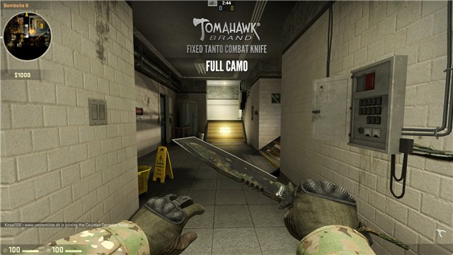 Скачать Tomahawk Brand Fixed Tanto Combat Knife для CS:GO бесплатно