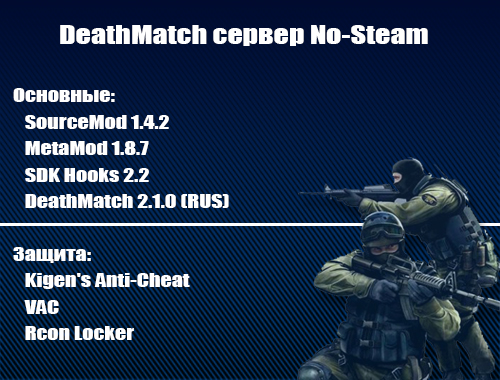 Скачать DeathMatch сервер No-Steam v34 бесплатно