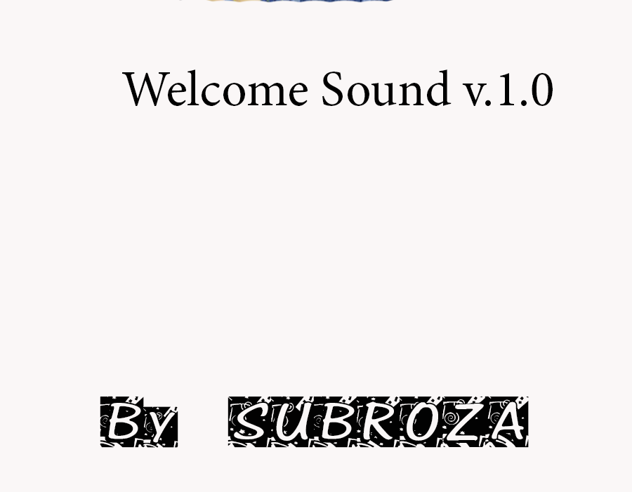 Скачать Welcome Sound v.1.0 бесплатно