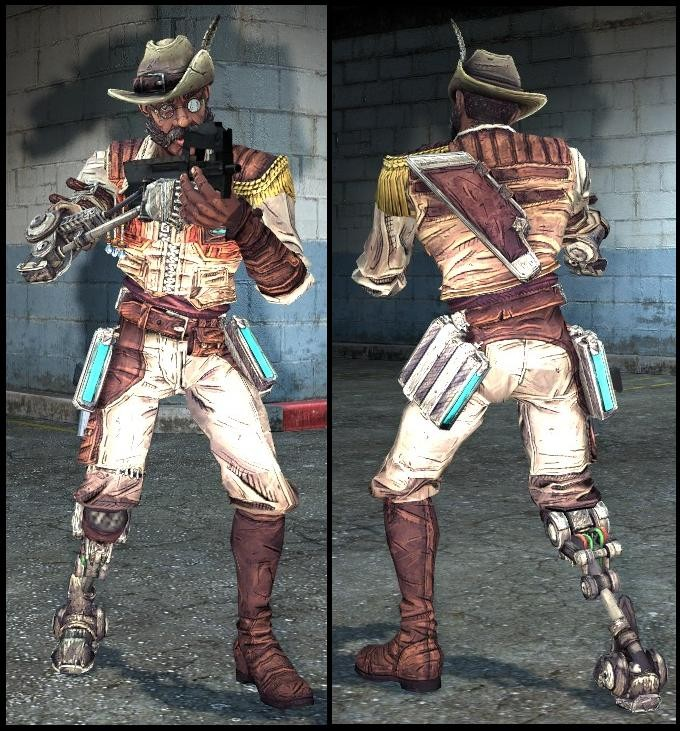 Скачать SIR HAMMERLOCK admin model [borderlands 2] бесплатно